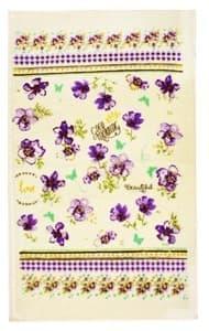 Рушник махровий 30*50 Квіти фіолет. 350г/м2 - фото 10135