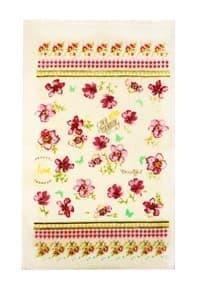 Рушник махровий 30*50 Квіти рож. 350г/м2 - фото 10137