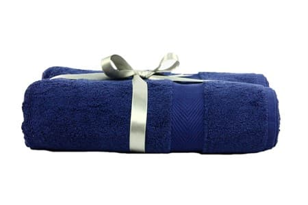 Набір рушник EURO SET Navy Blue синій 70*135 1шт. 500г/м2 - фото 10493