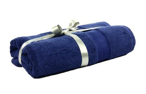 Набір рушник EURO SET Navy Blue синій 100*150 1шт. 500г/м2 - фото 10529