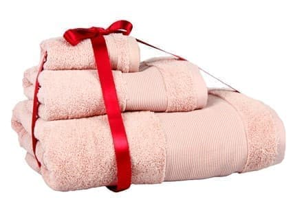 Набір рушників EURO SET Pink рожевий 30*50+50*90+80*200 3шт. 500г/м2 - фото 10552