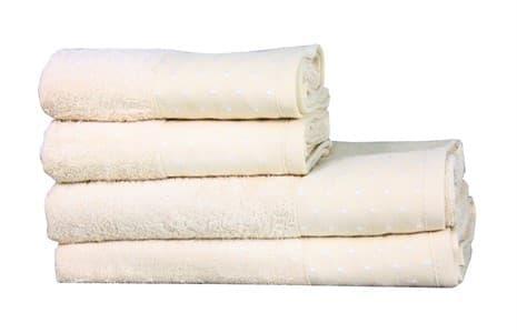 Рушник махровий Bamboo Puan Blanc 70*140 св.бежевий 520г/м2 - фото 11844