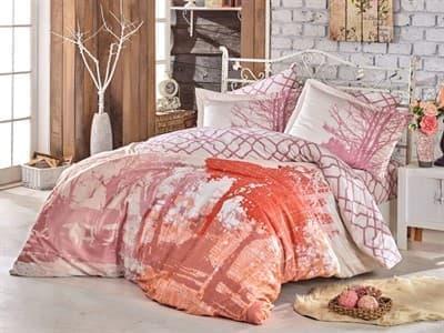 КПБ Hobby Exclusive Sateen Alandra рожевий 160*220/4*50*70 * - фото 15336