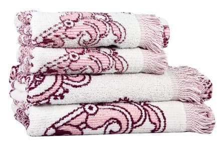 Рушник махр Maisonette Lora 50*100 т.рожевий 450 г/м2 - фото 16359