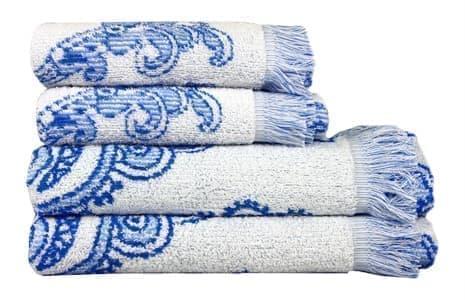 Рушник махр Maisonette Lora 70*140 блакитний 450 г/м2 - фото 16378