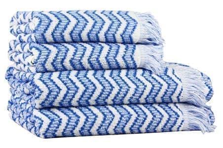 Рушник махровий Maisonette Lord 70*140 блакитний 450 г/м2 - фото 16451