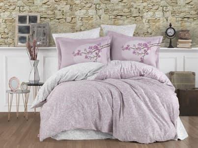 КПБ Hobby Exclusive Sateen Natalina рожевий 200*220/4*50*70 - фото 19400