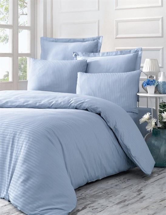 Victoria Stripe Sateen LINE блакитний 200*220/2*50*70/2*70*70 - фото 21577