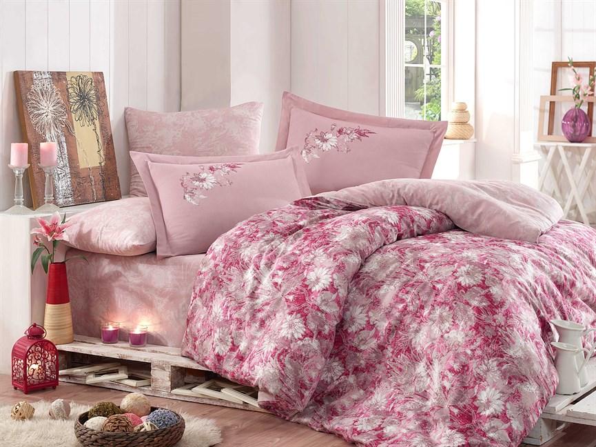 КПБ Hobby Exclusive Sateen Romina рожевий 200*220/4*50*70 - фото 21601