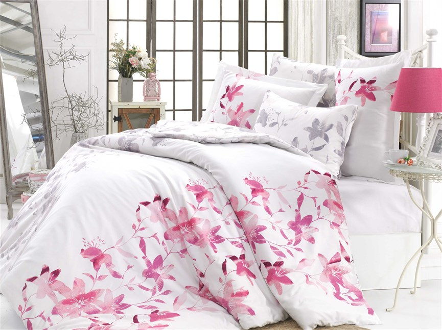 Hobby Exclusive Sateen Lucia фуксія 200*220/4*50*70 - фото 21606