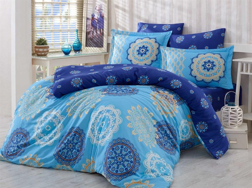Hobby Exclusive Sateen Ottoman блакитний 200*220/4*50*70 - фото 21615
