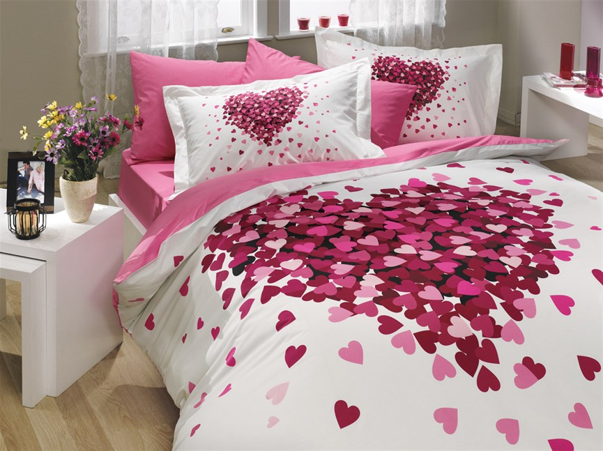 Hobby Poplin Juana рожевий 200*220/2*50*70 - фото 21702