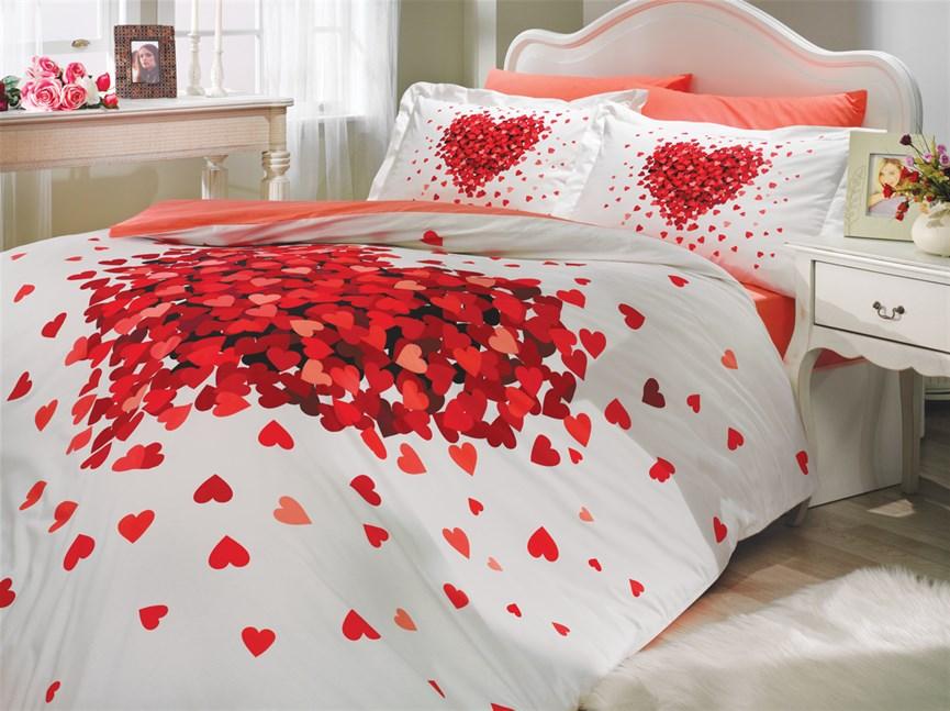 Hobby Poplin Juana червоний 200*220/2*50*70 - фото 21730