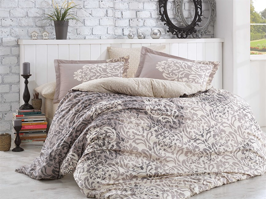 Hobby Flannel Serenity сірий 160*220/1*50*70 - фото 21795