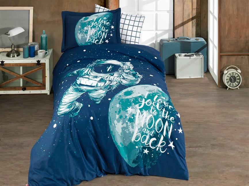 Hobby Poplin Galaxy синій 160*220/1*50*70 - фото 21868