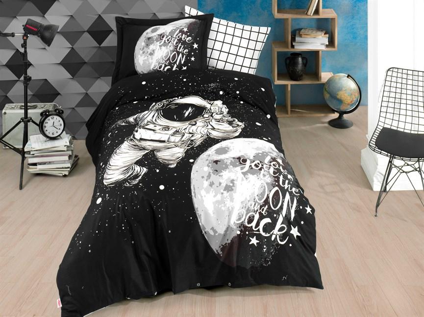 Hobby Poplin Galaxy т.сірий 160*220/1*50*70 - фото 21876