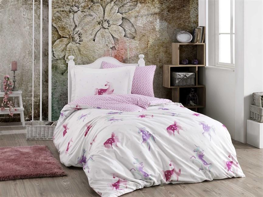 Hobby Poplin Mia рожевий 160*220/1*50*70 - фото 21877