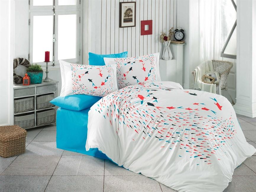 Hobby Poplin Delfina бірюзовий 160*220/1*50*70 - фото 21890
