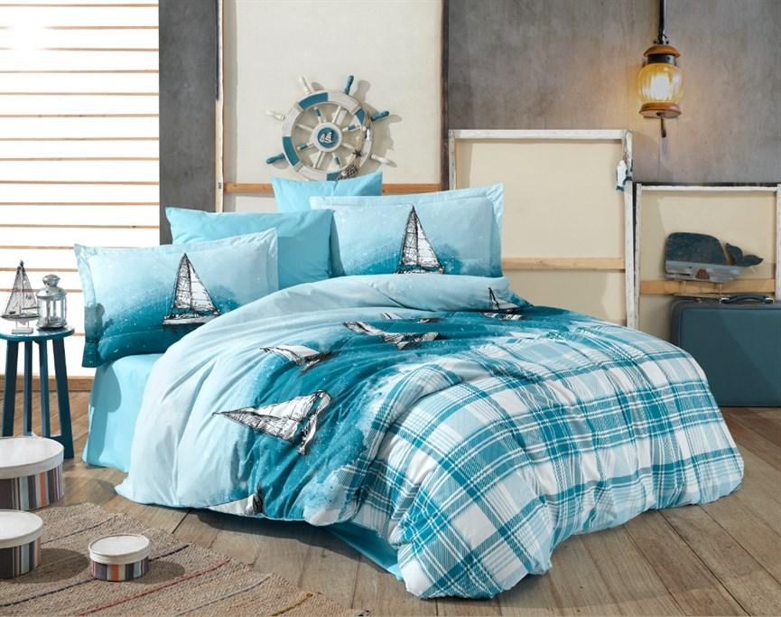 Hobby Poplin Maritim блакитний 160*220/1*50*70 - фото 21899