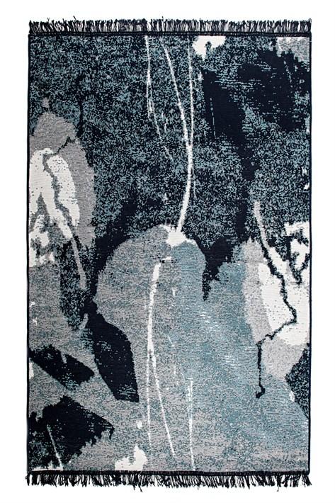 Килим ALBENI 80*150 SIYAH BEYAZ ALB2 - фото 22374