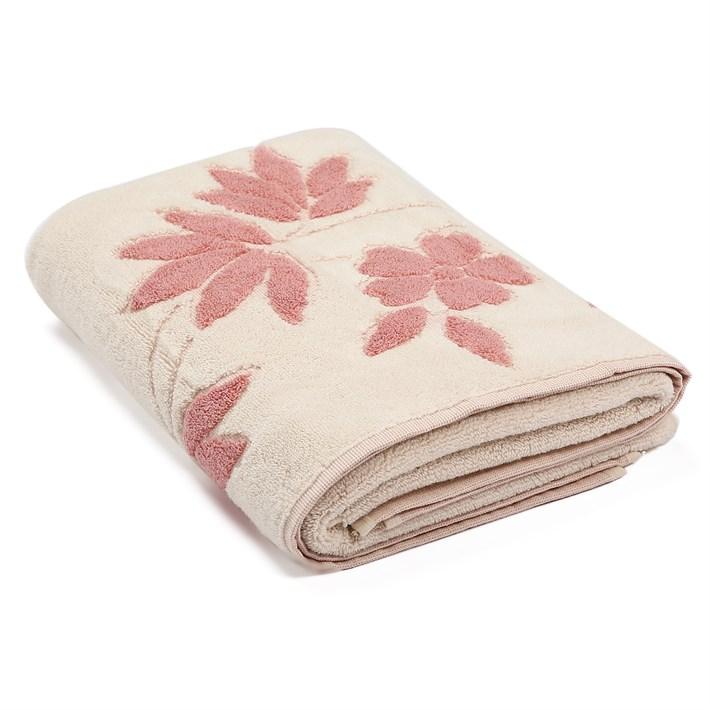 Рушник махровий Maisonette Solvron 76*152 рожевий 550 г/м2 - фото 22426