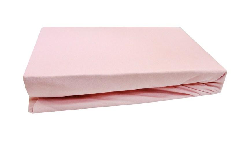 Простирадло на резинці трикотажне 180*200+25 т.рожевий - фото 22589