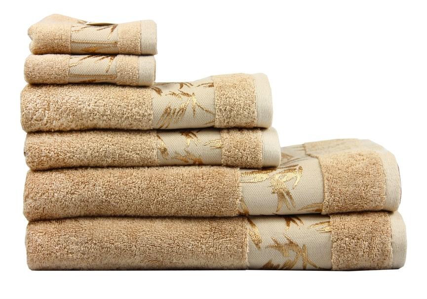 Рушник махровий Maisonette Bamboo 76*152 бежевий 500 г/м2 - фото 22637