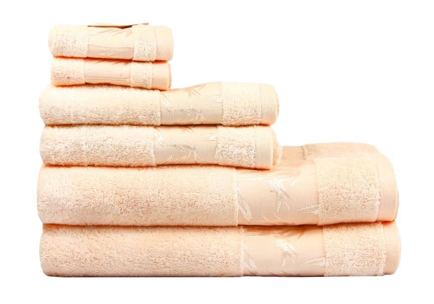 Рушник махровий Maisonette Bamboo 76*152 персиковий 500 г/м2 - фото 22651