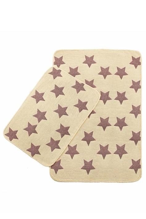 Набір килимків SOLO 40*60+60*90 KREM PEMBE YILDIZ - фото 23060
