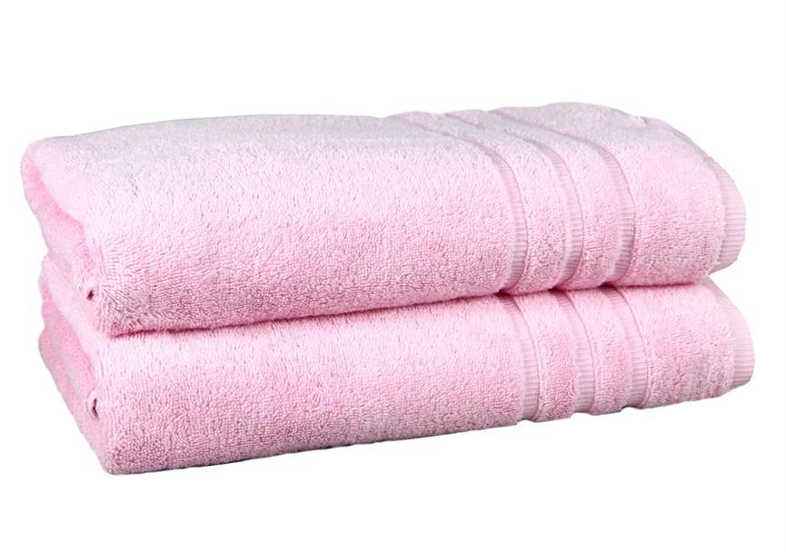 Рушник махровий Maisonette Micro Touch 70*140 рожевий 500 г/м2 - фото 23096