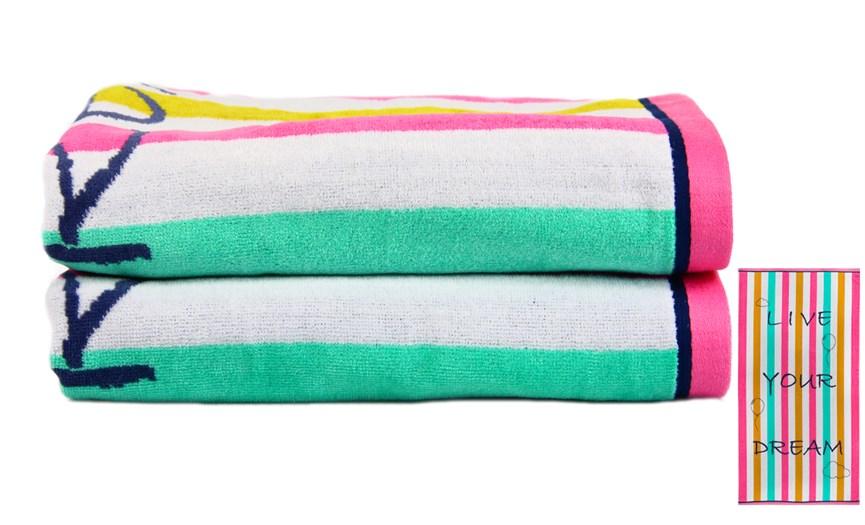 Рушник пляжний Maisonette Dream 70*130 400 г/м2 - фото 23118