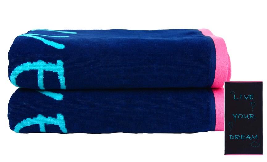 Рушник пляжний Maisonette Dream 70*130 блакитний 400 г/м2 - фото 23123