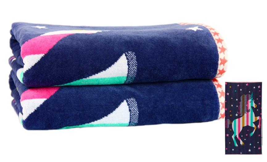 Рушник пляжний Maisonette Unicorn 70*130 400 г/м2 - фото 23128