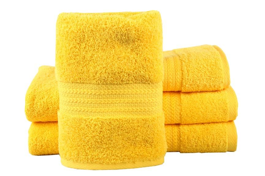 Рушник RAINBOW K.Sari 70х140 жовтий 500г/м2 - фото 23198
