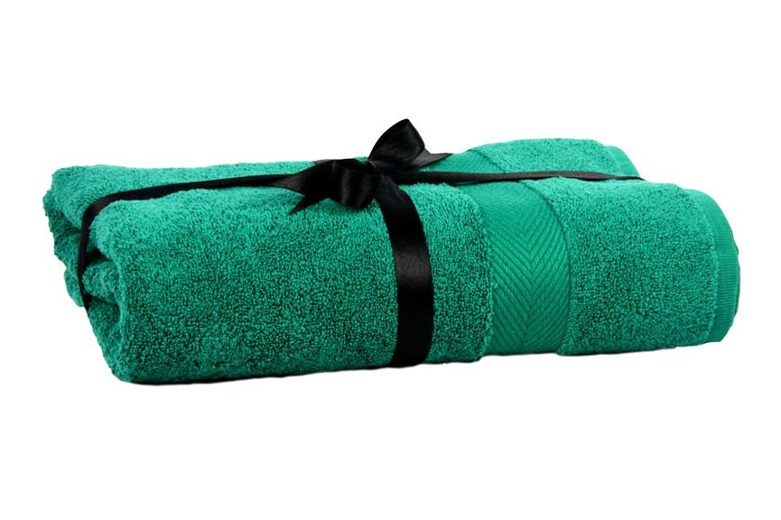 Набір рушник EURO SET Dark Green зелений 70*135 1шт. 500г/м2 - фото 23229