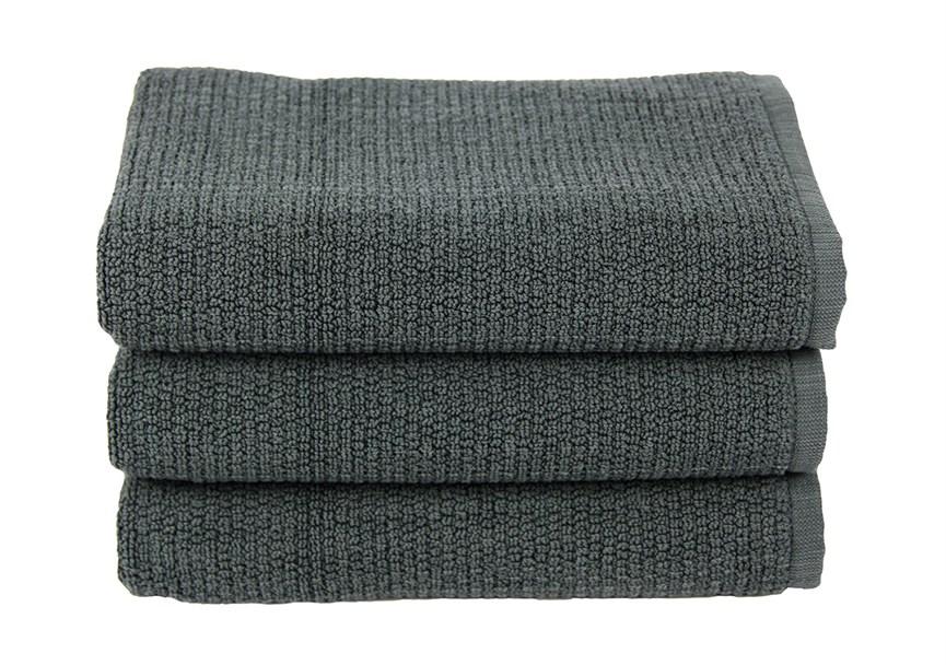 Рушник для ніг Maisonette Marlon 50*80 т.сірий 1000г/м2 - фото 23416