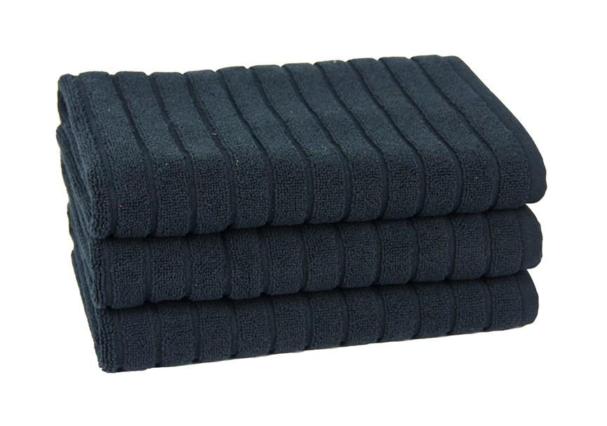 Рушник для ніг Maisonette Rainbow 60*60 чорний 850г/м2 - фото 23806