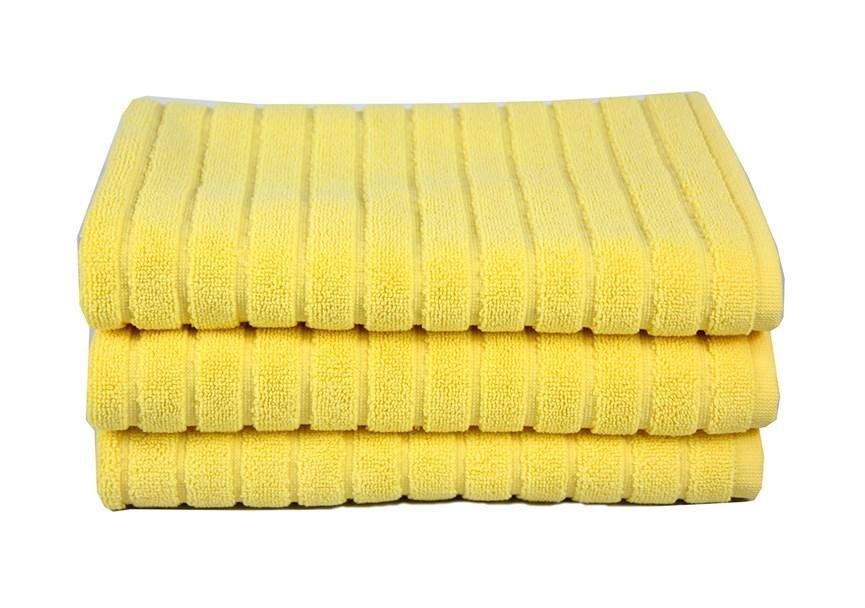 Рушник для ніг Maisonette Rainbow 60*60 жовтий 850г/м2 - фото 23815