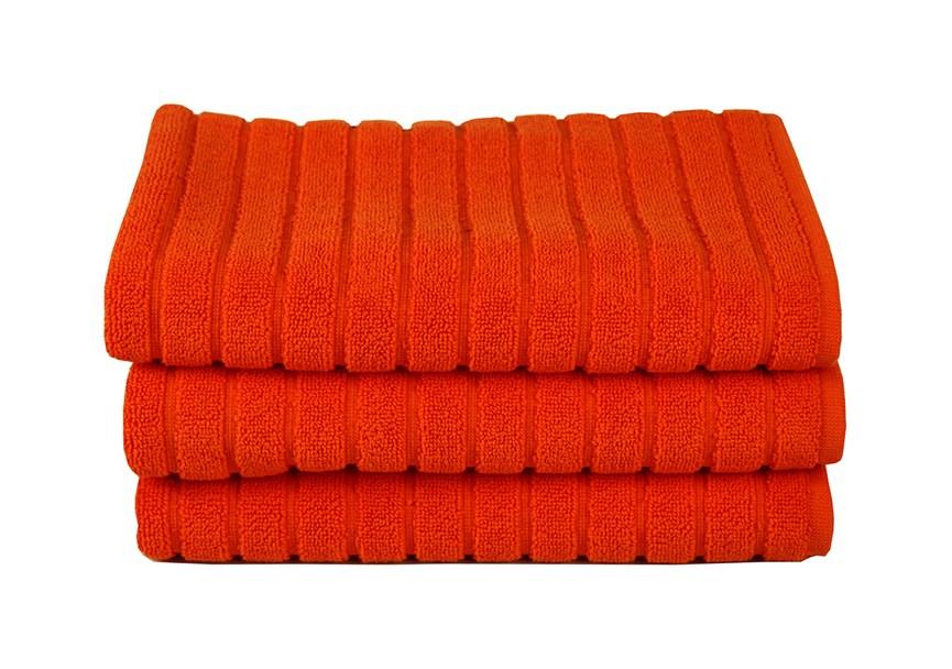 Рушник для ніг Maisonette Rainbow 60*60 помаранчевий 850г/м2 - фото 23839