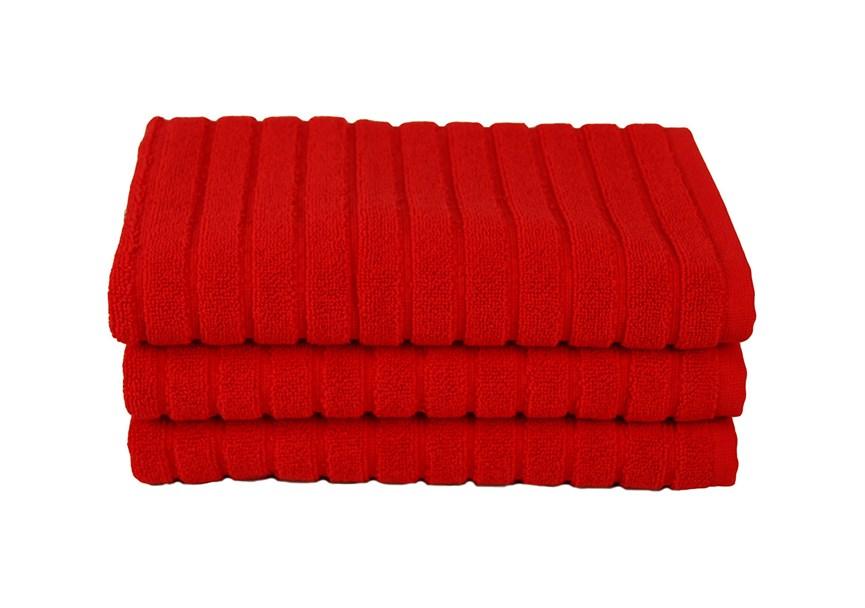 Рушник для ніг Maisonette Rainbow 60*60 червоний 850г/м2 - фото 23844
