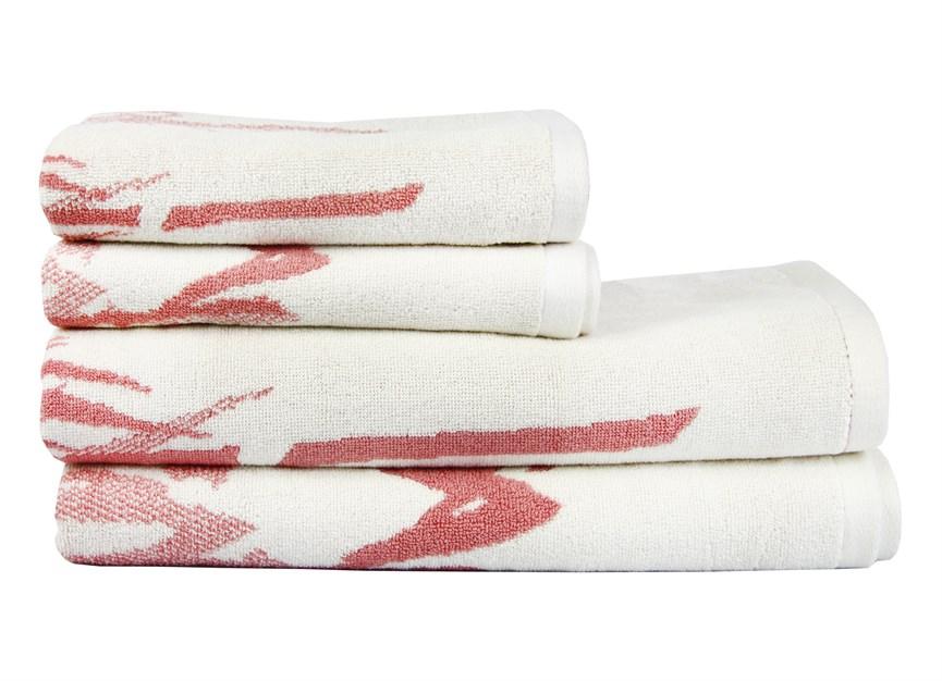Рушник махровий Maisonette Bamboo Leaf 50*100 т.рожевий 500 г/м2 - фото 23872