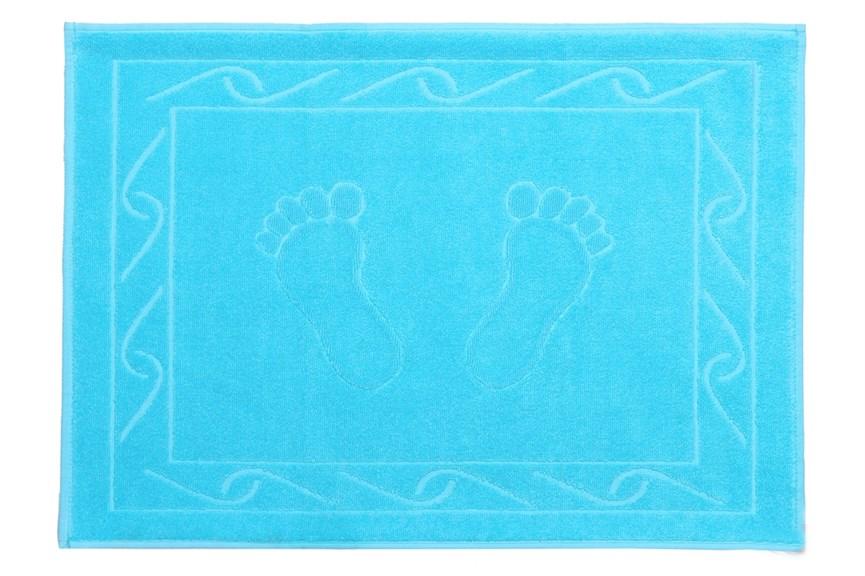 Рушник для ніг Hayal 50*70 блакитний аква 700г/м2 - фото 23940