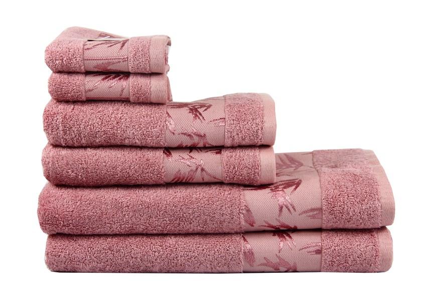 Рушник махровий Maisonette Bamboo 50*100 т.рожевий 500 г/м2 - фото 23966