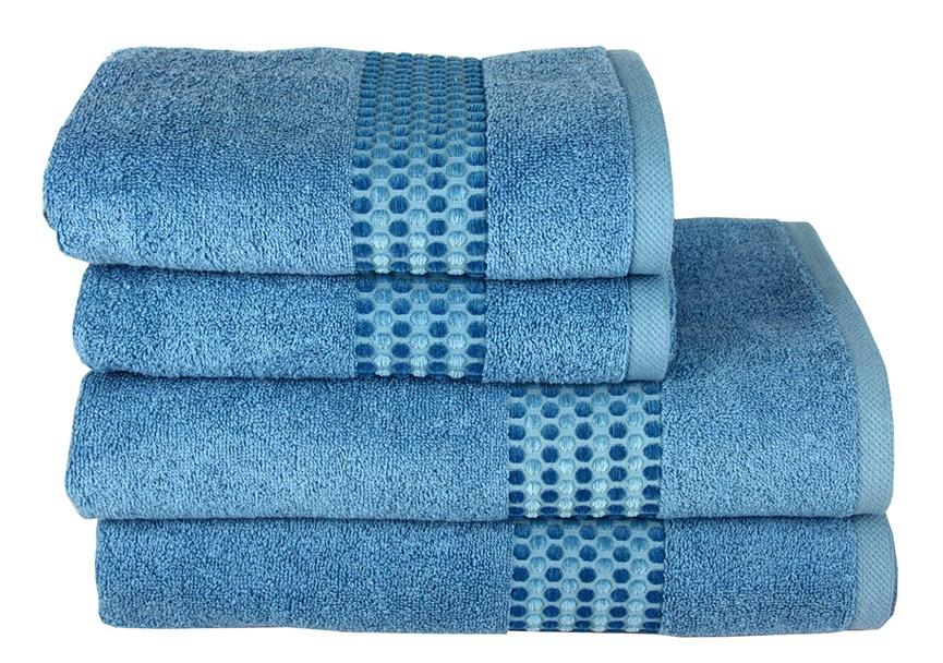 Рушник махровий Maisonette Classy 50*100 синій 460 г/м2 - фото 24025