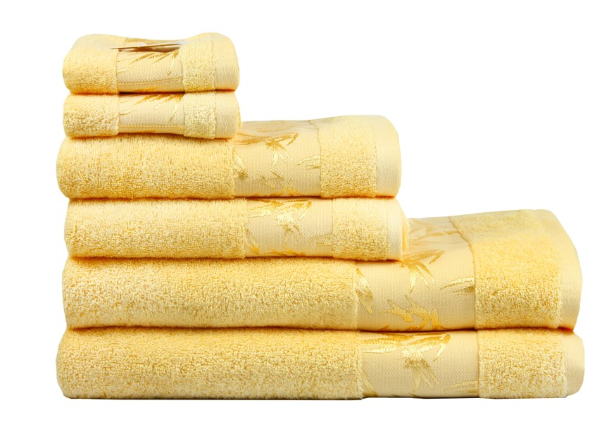 Рушник махровий Maisonette Bamboo 30*50 жовтий 500 г/м2 - фото 24281
