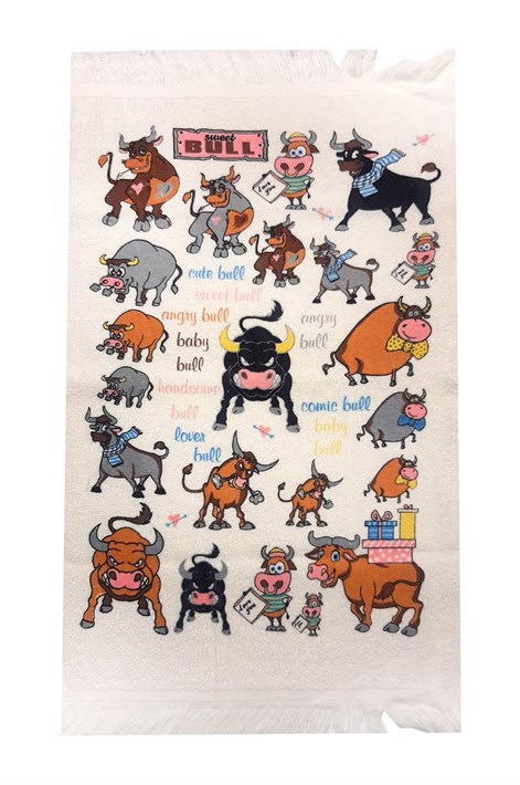 Рушник махровий Веселий бик 40*60 350г/м2 - фото 24312