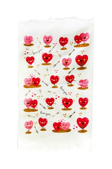 Рушник махровий Кохання рожевий 40*60 350г/м2 - фото 24338