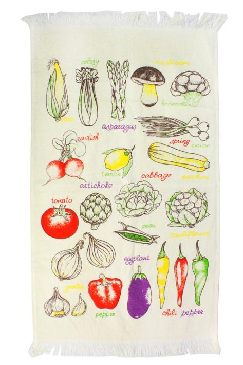 Рушник махровий Овочі 40*60 кольоровий 350г/м2 - фото 24352