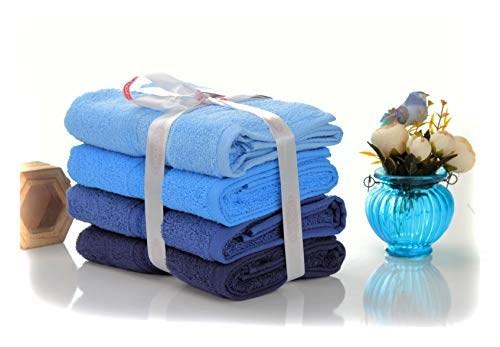 Набір рушників RAINBOW Mavi 50*90 синій 500г/м2 4шт. - фото 25269