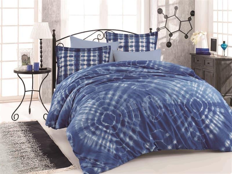 КПБ HOBBY Batik Egzotik синій 200*220/2*50*70 - фото 6019